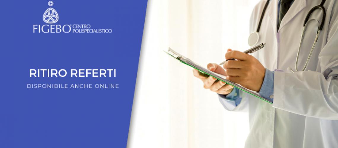 ritiro referti anche online nel centro Figebo Lazio